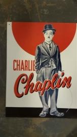 Metaalplaat Charlie Chaplin