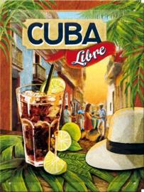 Metaalplaatje Cuba Libre