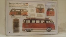 Metaalplaat Volkswagen Microbus