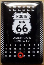 Metaalplaat Route 66: America's Highway kalender