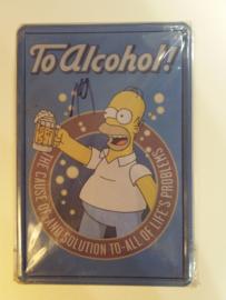 Metaalplaat The Simpsons