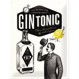 Metaalplaat Gin Tonic