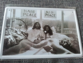 Metaalplaat John Lennon en Yoko Ono