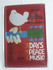 Metaalplaat Woodstock
