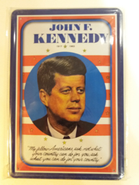 Metaalplaat JF Kennedy