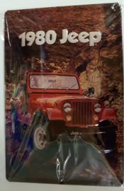 Metaalplaat Jeep 1980