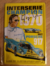 Metaalplaat Porsche 917 - Interserie Champion