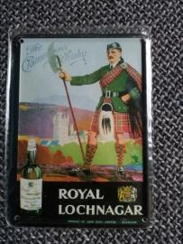 Metaalplaatje Whiskey 8 x 11 cm Royal Lochnagar
