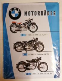 Metaalplaat BMW Motorräder