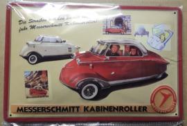 Metaalplaat Messerschmitt Kabinenroller