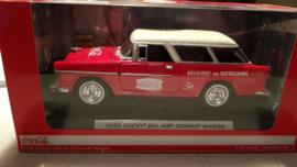 Schaalmodel 1955 Chevy Bel Air Nomad Wagon Coca Cola  1/24