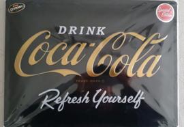 Metaalplaat Coca Cola 30x40cm in reliëf Special Edition