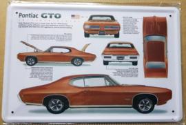 Metaalplaat Pontiac GTO