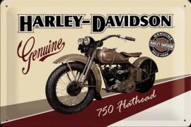 Metaalplaat Harley Davidson Flathead 750