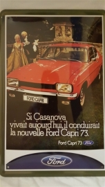 Metaalplaat Ford Capri 73