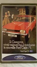 Metaalplaat Ford Capri 73