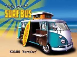 Metaalplaat Volkswagen VW Combi - Surf Bus