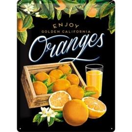 Metaalplaat Golden California Oranges
