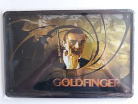 Metaalplaat James Bond: Goldfinger