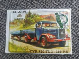 Metalen postkaart M.A.N