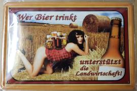 Metaalplaat bier algemeen