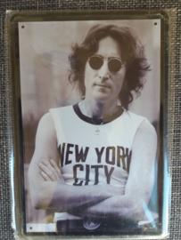 Metaalplaat John Lennon