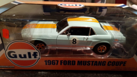 Schaalmodel 1967 Ford Mustang Coupé (Gulf) 1/18