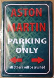 Metaalplaat Aston Martin parking only