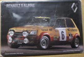 Metaalplaat Renault 5 Alpine