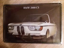 Metaalplaat BMW 2000 CS