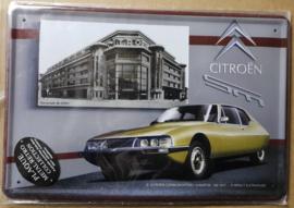 Metaalplaat Citroën - A Martin - SM1970