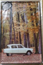 Metaalplaat Citroën AMI 6 1962