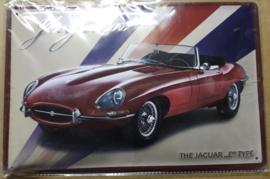 """Metaalplaat Jaguar """"E""""Type"""