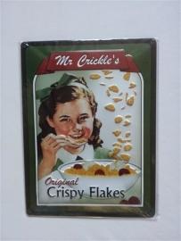 Metaalplaat Mr Crickle's Original Crispy Flakes