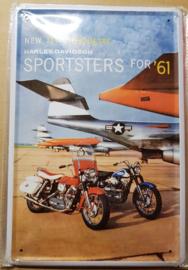 Metaalplaat Harley Davidson Jet Silhouette