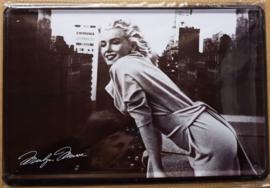 Metaalplaat Marilyn Monroe