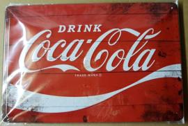 Metaalplaat Coca Cola