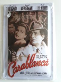 Metaalplaat Casablanca (Humphrey Bogart)