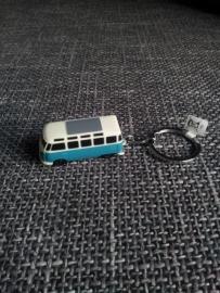 Sleutelhanger VW busje blauw met ledlichtjes