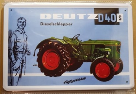 Metaalplaat Deutz  D40 S