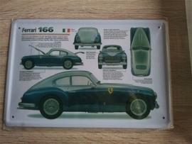 Metaalplaat Ferrari 166