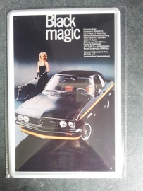 Metaalplaat Opel Black Magic