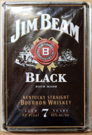 Metaalplaat whiskey Jim Beam Black
