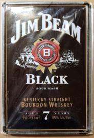 Metaalplaat whiskey Jim Beam Black