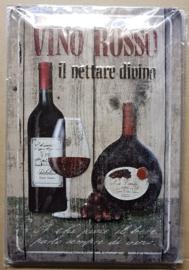 Metaalplaat Wijn: Vino Rosso
