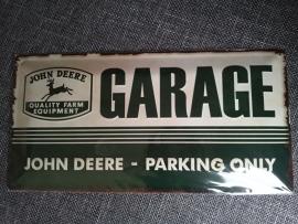 Metaalplaat John Deere Garage Parking Only