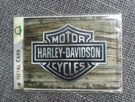 Metalen Postkaart Harley Davidson