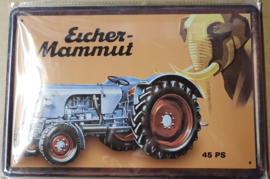 Metaalplaat Eicher Mammut 45PS