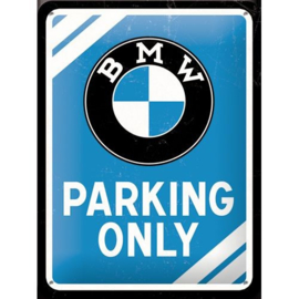 Metaalplaatje BMW Parking Only