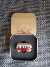 Magneet in 3D rood busje